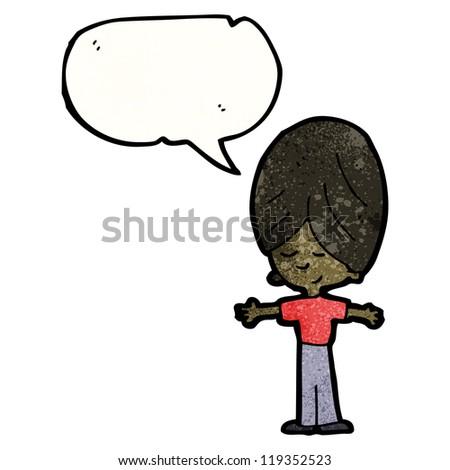 cartoon talking boy