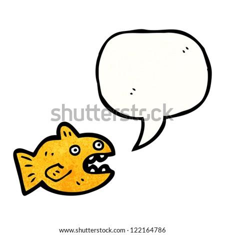 cartoon talking goldfish