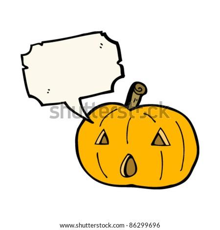 cartoon talking pumpkin