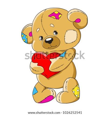cartoon teddy bear funny toy