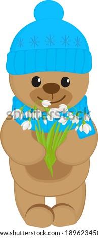 cartoon teddy bear wearing