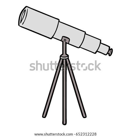cartoon telescope