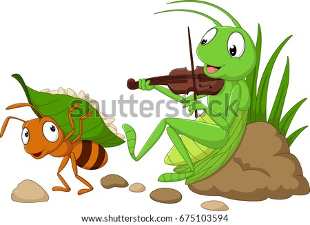 cartoon the ant and the