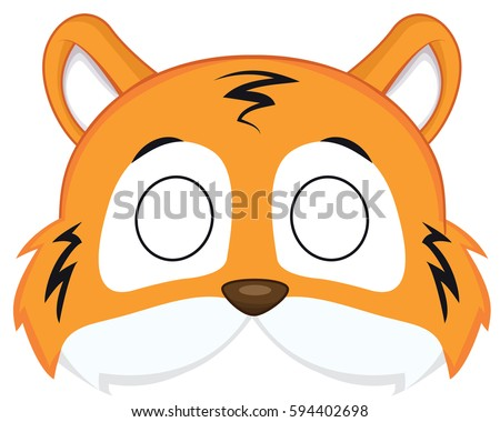 cartoon tiger mask for children