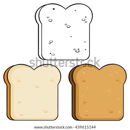 cartoon toast bread slice