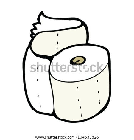 cartoon toilet roll