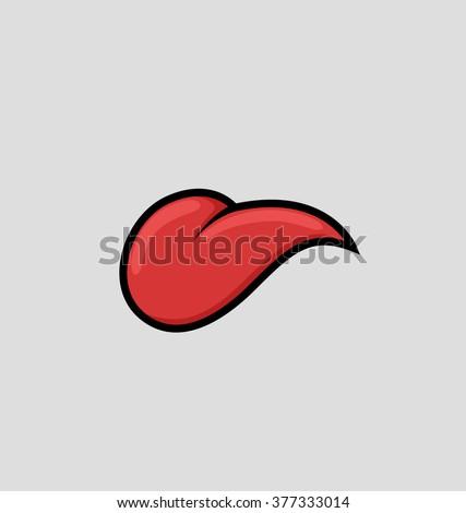 cartoon tongue vector
