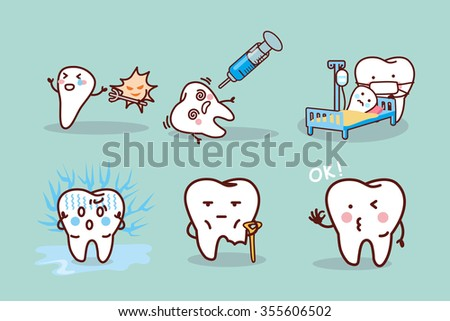 cartoon tooth cavity  great for