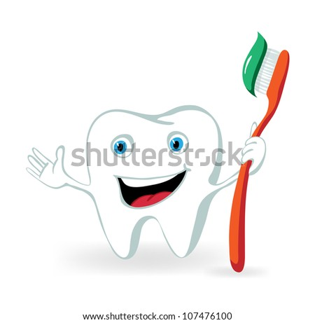 Sparkle Cartoon Character Cartoon Tooth Character