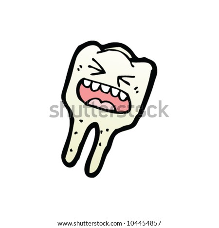 cartoon toothache