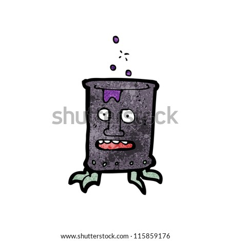 cartoon toxic waste robot character