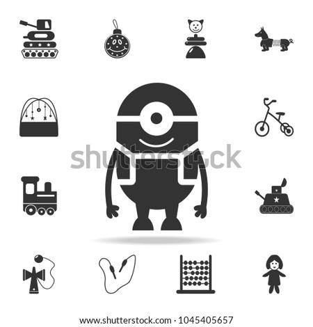 cartoon toy icon detailed set