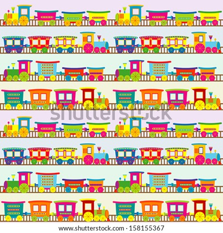 cartoon toy train background