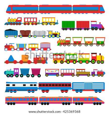 cartoon toy train with colorful
