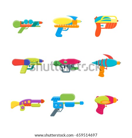 cartoon toy water guns color