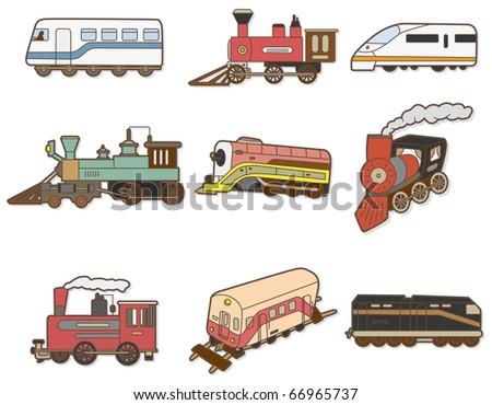 cartoon Train - stock vector