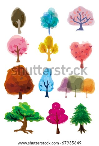 cartoon tree icon