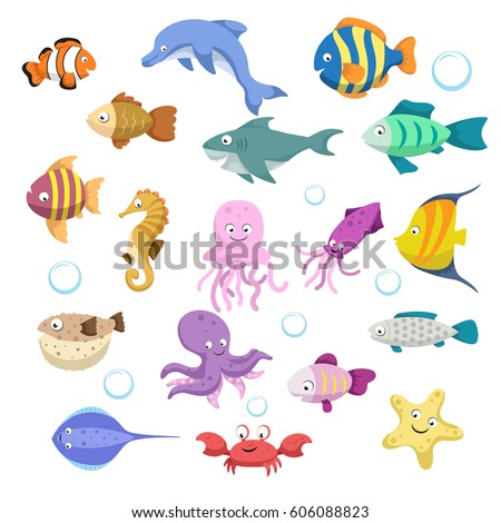 cartoon trendy colorful reef