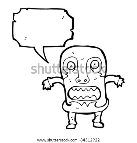 stock vector cartoon tribal mask man