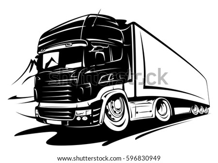 cartoon truck trailer