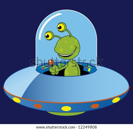 stock vector : Cartoon ufo
