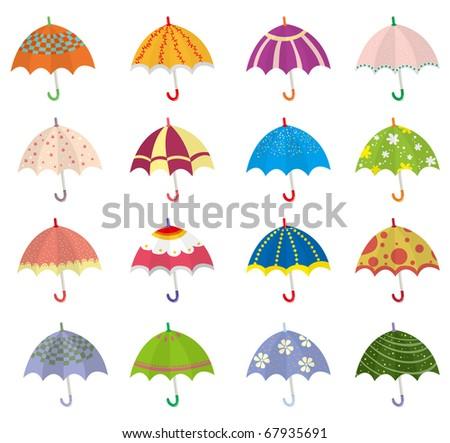 cartoon umbrella icon