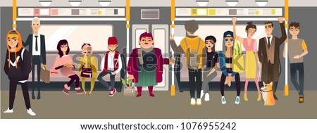 cartoon underground subway
