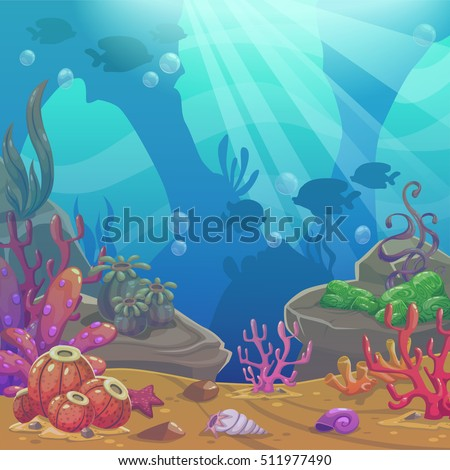 cartoon underwater vector