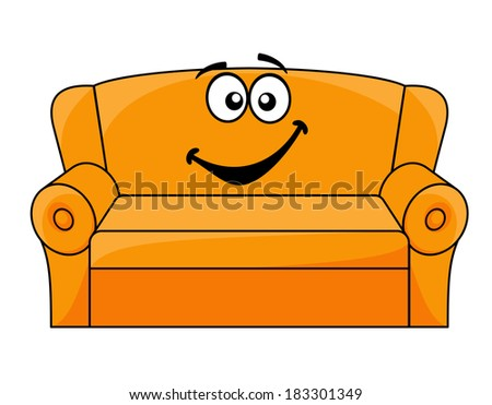 cartoon upholstered orange