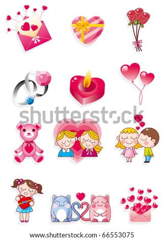 cartoon Valentine's Day - stock vector