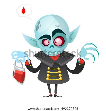 cartoon vampire halloween