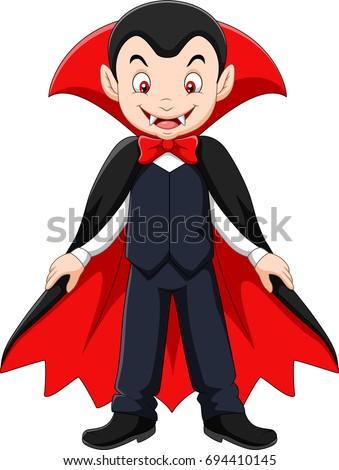 cartoon vampire mascot