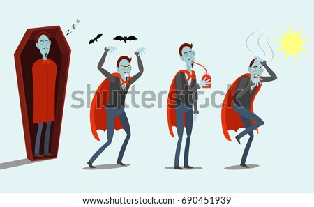 cartoon vampires  sleeps in the