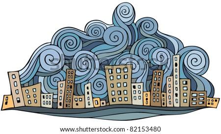 cartoon vector abstract city