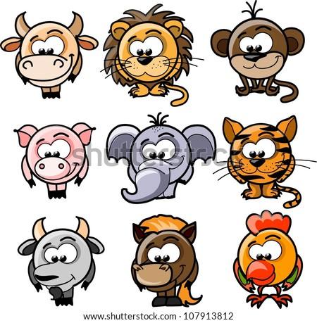 Cartoon vector animals