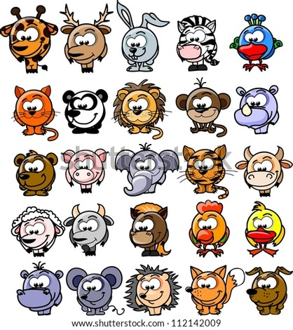 Cartoon vector animals