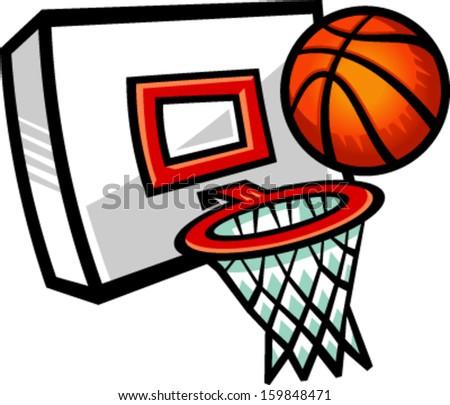 Basketball net vector art
