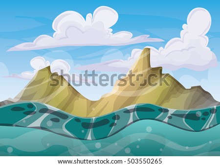 cartoon vector cave with