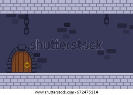 cartoon vector dark castle