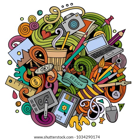 cartoon vector doodles art and