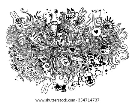 cartoon vector doodles hand