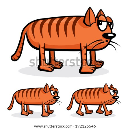 cartoon vector funny cat