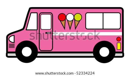 cartoon vector illustration ice cream truck
