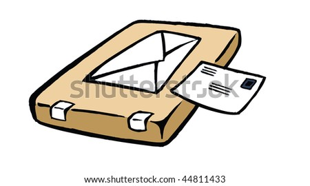 cartoon vector illustration mail postage envelope