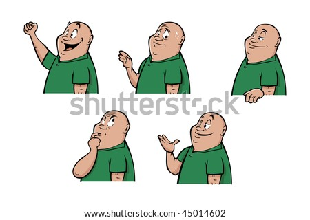 cartoon vector illustration male expressions