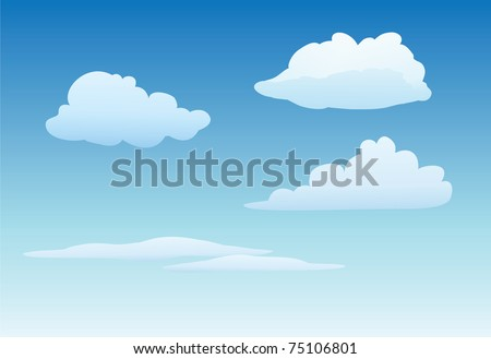 cartoon vector illustration of a clouds collection