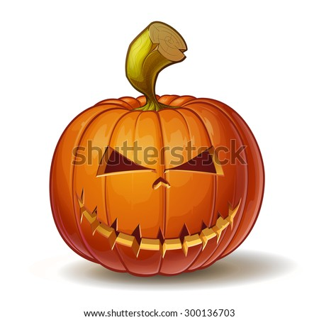 Halloween cartoon pumpkins download free vector art stock cartoon vector illustration of a jack o lantern pumpkin curved in a mean expression thecheapjerseys Choice Image
