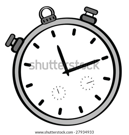 Cartoon vector illustration of a stopwatch