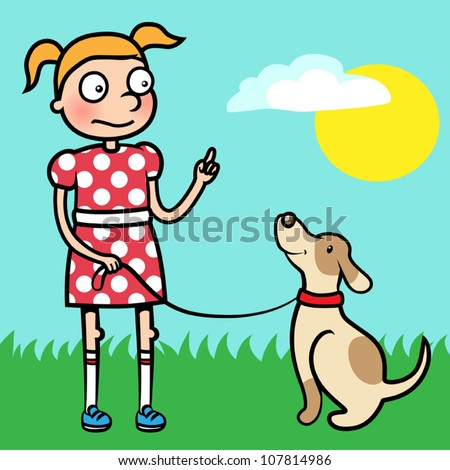 Obedient Child Clipart Girl training obedience Well Behaved Child Clipart