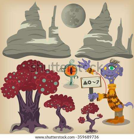 cartoon vector illustration of